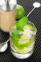 Mojito-Cocktail und Zutaten foto