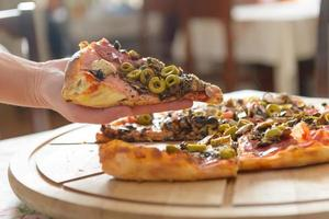 frische italienische Pizza foto