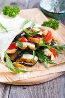 Tortilla gefüllt foto