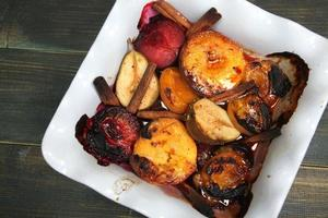 gebackene Früchte foto