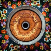 frisch gebackener Kuchen foto