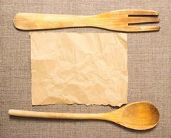 Geschirr mit Platz für Rezept foto