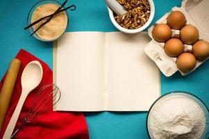 Notizbuch für Rezepte foto