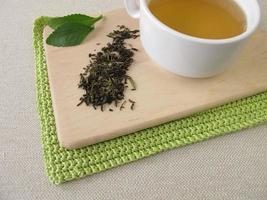 Darjeeling grüner Tee und Stevia foto