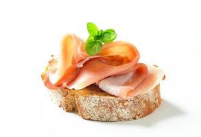 Brot mit Schinken foto