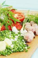 Gemüse für Borschtsch foto