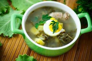 Suppe mit Sauerampfer foto