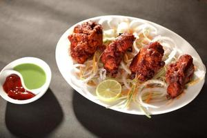 Hammel Tikka ist ein indisch / pakistanisches Gericht foto