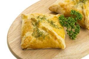 Pastetchen mit Hühnchen und Petersilie foto