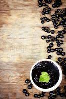 schwarze Johannisbeeren Marmelade foto