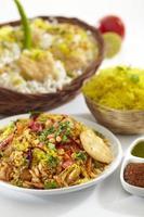 Bhelpuri, Chat Essen, Indien foto