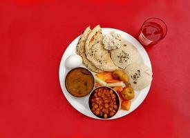 indisches Frühstück Thali foto