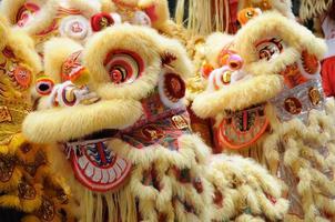 chinesischer tanzender Löwenkopf foto