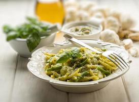 Pesto Trofie typisches Genua-Rezept foto
