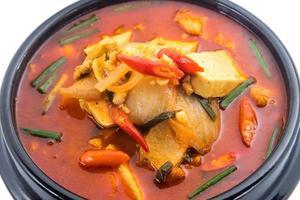 Kimchi-Eintopf, Kimchi-Chigae, koreanische Küche, Kimchi-Suppe foto