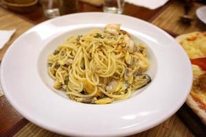 Meeresfrüchte-Spagetti foto