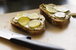 Sandwich mit Gurken foto