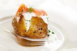 gefüllte Kartoffel foto