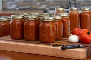 Glas Spaghetti Sauce foto
