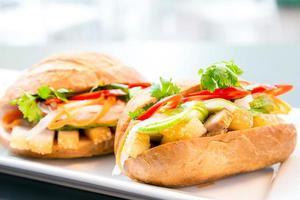 Baguette-Sandwich foto