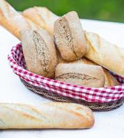 Baguette und Brot