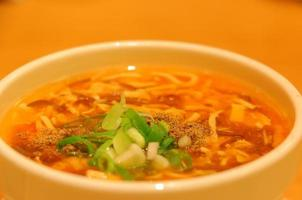 heiße und saure Suppe foto