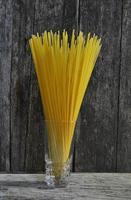 Spaghetti-Stapel foto