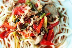 Spaghetti mit Fleisch