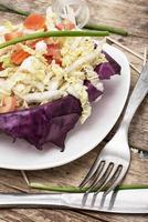 Salat aus frischem Gemüse foto