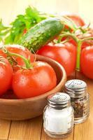 Nudeln mit Tomaten und Knoblauch einstellen foto