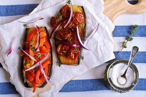 Auberginen mit Gemüse foto