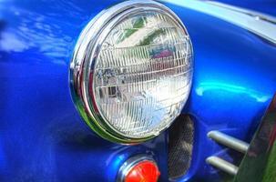 Retro Sportwagen Scheinwerfer foto
