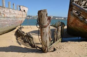 Schiffswrack in der Bretagne foto