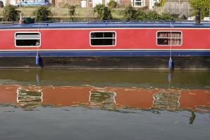 schmales Boot in Hungerford. Berkshire. England foto