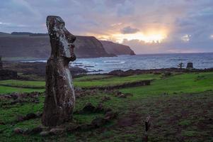 Morgendämmerung auf der Isla de Pascua. Rapa Nui. Osterinsel foto