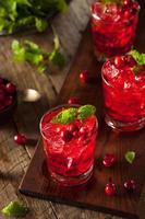 hausgemachter saftiger Cranberry-Cocktail foto