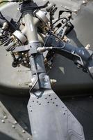 Heckrotordetail des Hubschraubers foto
