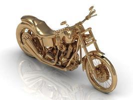 goldene Statuette eines mächtigen Motorrades foto