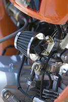 Vergaser eines kleinen Rennmotorrads foto