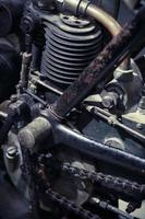 Vintage Motorradmotor foto