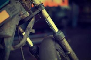 altes Vintage Motorrad foto