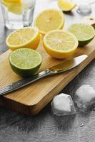 Limette und Zitrone foto