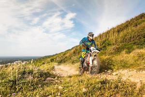 Enduro-Radfahrer foto