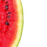 Melonenmuster lokalisiert auf weißer Hintergrundansicht von oben.