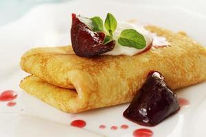 Pfannkuchen mit Marmelade foto