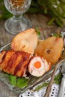 Huhn mit gegrilltem Speck foto