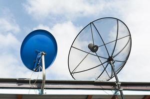 Telekommunikationssatelliten foto