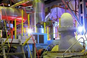 Industriezone. Fabrikausrüstung