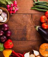 verschiedene Gemüsesorten foto