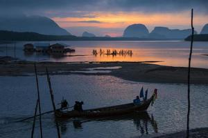 schönes Morgenlicht bei Baan Sam Chong Tai